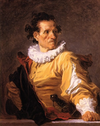 Portrait of a Man called 'The Warrior' by Jean-Honore Fragonard