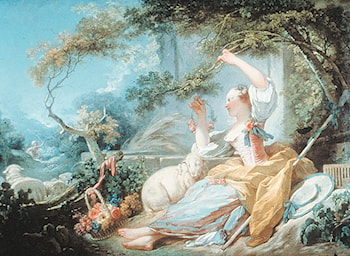 Shepherdess by Jean-Honore Fragonard