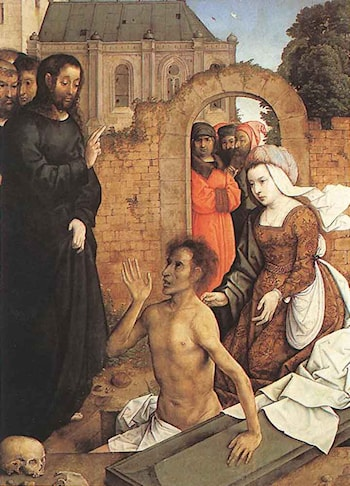 The Raising of Lazarus by Juan De Flandes