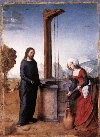 Christ and the Woman of Samaria by Juan De Flandes