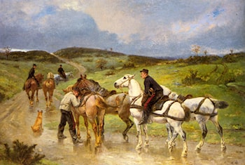Changing Horses by Pierre Auguste Brunet-Houard