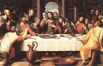 The Last Supper by Juan de Juanes