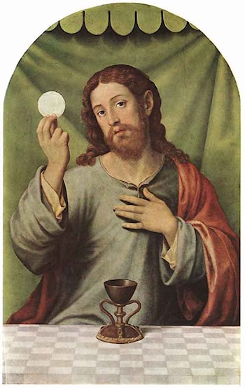 Christ with the Chalice by Juan de Juanes