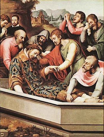The Entombment of St Stephen Martyr by Juan de Juanes