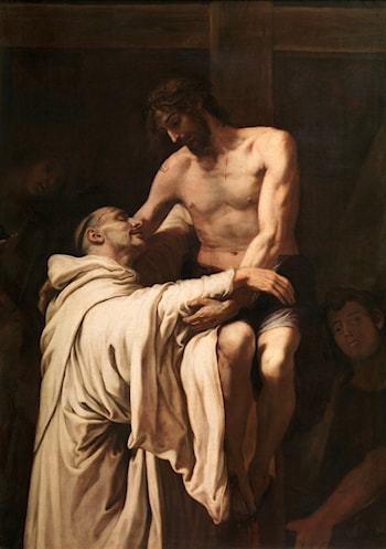 Christ Embracing St Bernard by Francisco Ribalta