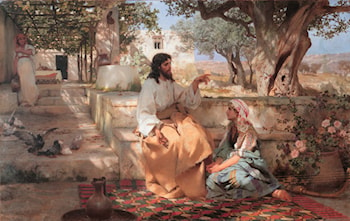 Christ in the House of Martha and Mary by Henryk Hector Siemiradzki