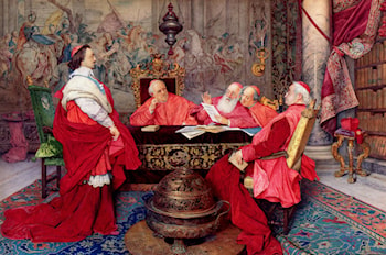 Cardinal Richelieu And His Council by Guiseppe Signorini
