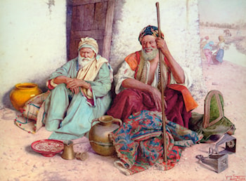 Arab Merchants by Guiseppe Signorini