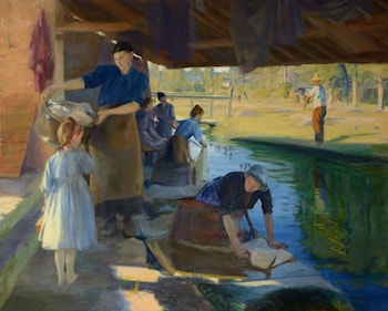 Washer Women by a Riverside by Charles Sims