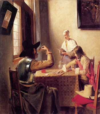 Soldiers Playing Cards by Pieter de Hooch