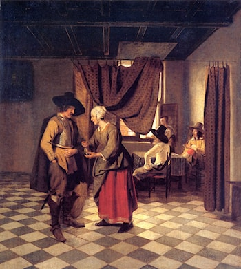 Paying the Hostess by Pieter de Hooch