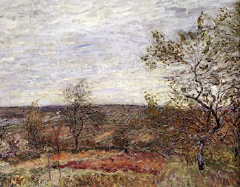 Windy Day At Veneux by Alfred Sisley