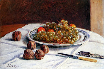Grapes And Walnuts On A Table by Alfred Sisley
