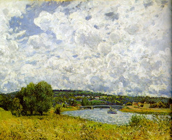The Seine at Suresnes by Alfred Sisley