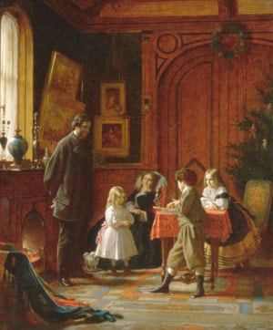 Christmas­Time, The Blodgett Family by Eastman Johnson