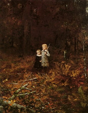 Babies In The Woods by Eastman Johnson