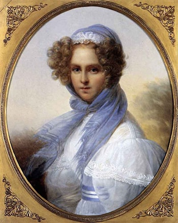 Presumed Portrait of Miss Kinsoen by Francois-Joseph Kinsoen