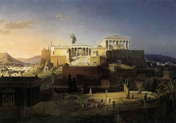 The Acropolis at Athens by Leo von Klenze