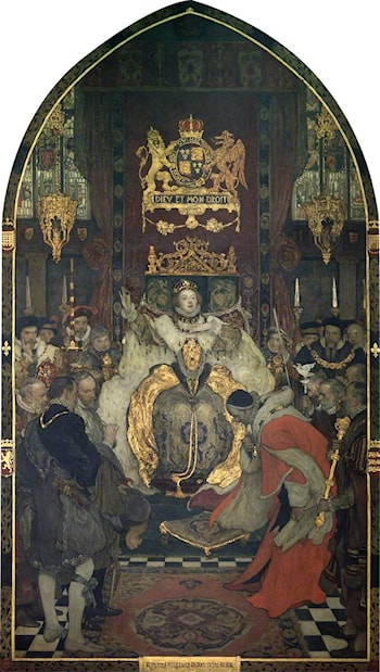 The Commons Petitioning Elizabeth I to Marry by Solomon Joseph Solomon