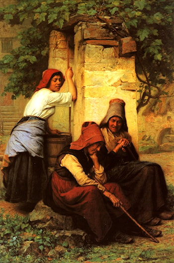 At The Well by Jacques-Eugene Feyen