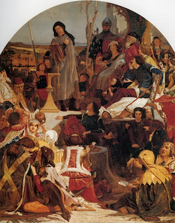 Chaucer at the Court of Edward III by Ford Madox Brown
