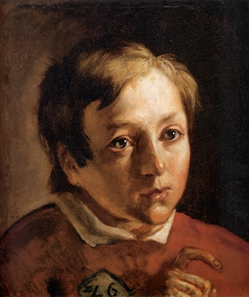 Head of a Page Boy by Ford Madox Brown