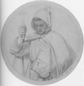Study of a Monk, representing Catholic Faith by Ford Madox Brown