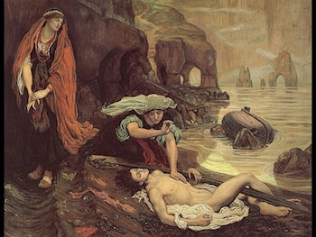 Don Juan Discovered by Haydee by Ford Madox Brown