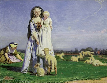 The Pretty Baa-Lambs by Ford Madox Brown