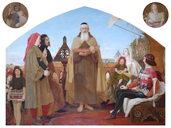 Wycliffe Reading His Translation of the New Testament by Ford Madox Brown