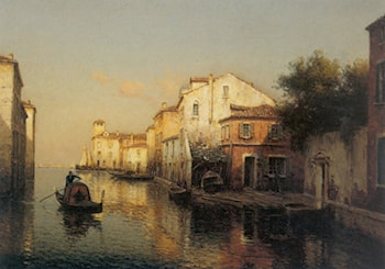 A View of Grand Canal Venice by Antoine Bouvard
