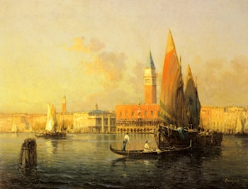 A View of Venice from Isola di S. Georgio by Antoine Bouvard