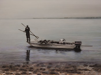 Clamdigging on the Tred Avon by Clark Gussin