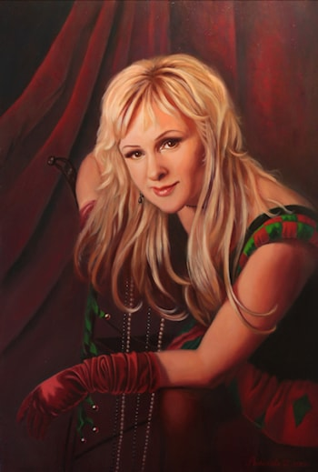 Portrait of Columbine by Olga Rybakova
