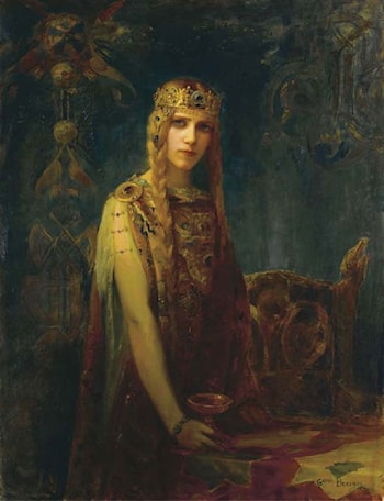 Femme a la Couronne: La Princesse Celte by Gaston Bussiere