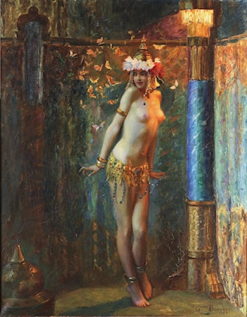 La danse de Salome ou Les papillons d'or by Gaston Bussiere