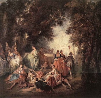 Company in the Park by Nicolas Lancret