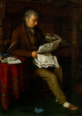 Reading the Standard by Charles Spencelayh