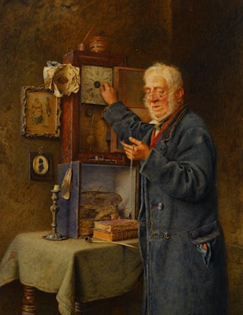 Greenwich Time by Charles Spencelayh