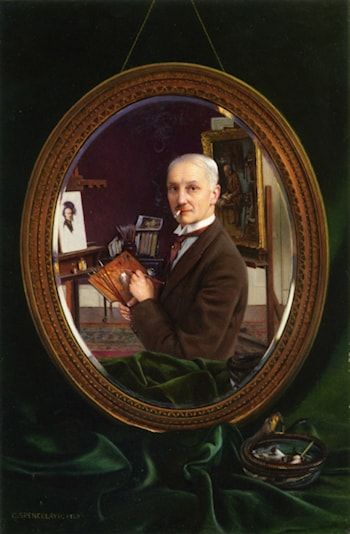 My Reflection by Charles Spencelayh