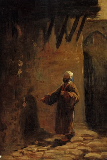 Turke in Enger Gasse by Carl Spitzweg