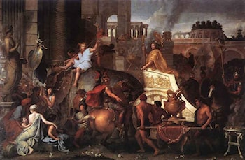 Entry of Alexander into Babylon by Charles Le Brun