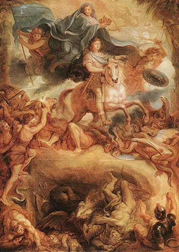 Apotheose of Louis XIV by Charles Le Brun