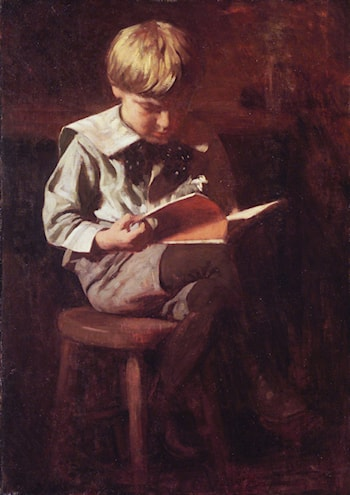 Boy Reading: Ned Anshutz by Thomas Pollock Anschutz