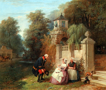 Receiving her First Visitor by Jean-Baptiste Madou