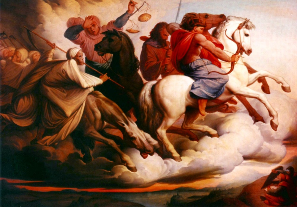 Four Horsemen of the Apocalypse by Edward von Steinle - Art