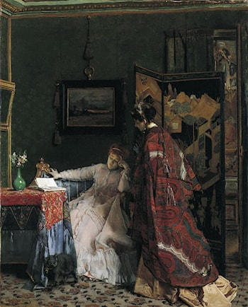 The Visit by Alfred Stevens