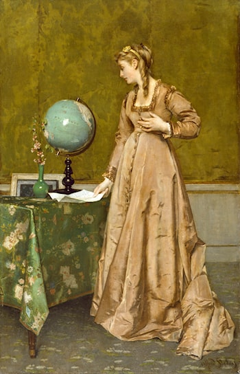 News From Afar by Alfred Stevens