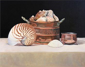 Copper and Shell by Elaine Hahn