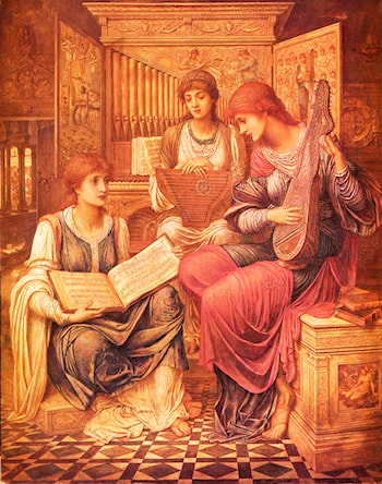 The Music of a Bygone Age by John Melhuish Strudwick